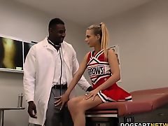 Cheerleader Teen Sydney Cole Fucks A Black Cock In Hospital