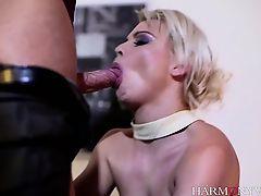 Blonde stunner Aphrodite seductively strips for her lover
