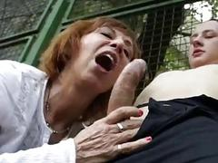 Mature mom fucks young guy on basketball court GrandMams.com