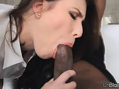 Coed double penetrated by big black cocks