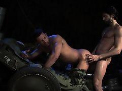 Big dick military anal and cumshot