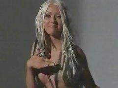 Christina Aguilera  - Nipple slip video
