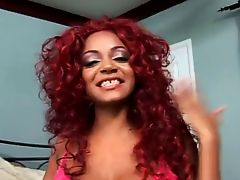 Hot Redhead Black Milf in deep anal fuck