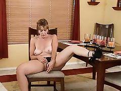 Mature Slut Toying At The Table... IT4REBORN