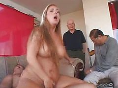 Swinger MILF housewife drilled