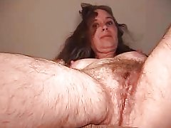 very hairy girl