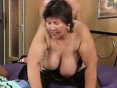 Thick & thin moms fucks with 2 men