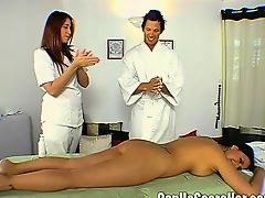 Pornstar Eva Angelina on a Massage Date with a Fan