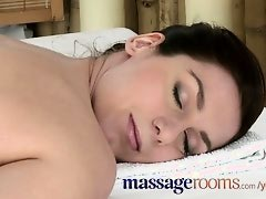 Massage Rooms Soft young bodies are oiled in intense lesbian encounters