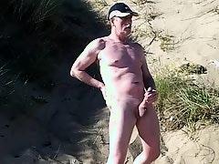 wild exhibitionist on the beach