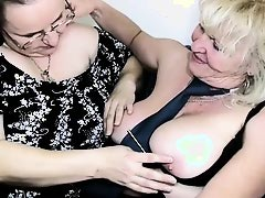 Old mature granny with other mature granny