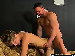 Anthony Evans gets fucked anally by a mature stud