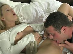 ORGASMS - Young blonde with amazing ass
