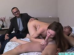 Old guy pay for fucking girlfriend