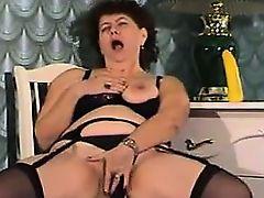 Fat Russian Masturbating