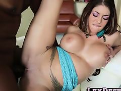 Brunette Brook Ultra gets pounded by Lexington Steeles bbc