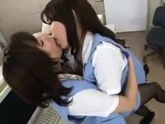 Horny Asian Secretaries get naughty at Work