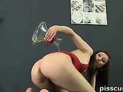 Nolita masturbates and drinks her own piss