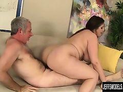 Pretty plumper Angel DeLuca gets fucked so good