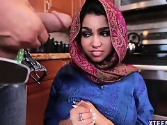 Hot Arab teen Ada receives hot creampie after getting fucked