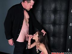 Ziggy Star humiliated and fed with a huge load of hot jizz