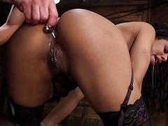 Slave Training Kira Noir to Fist her Own Ass!