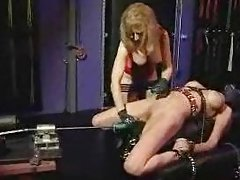 Lesbo bondage and fucking machines