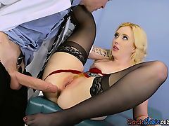 Blonde Patient Samantha Rone Enjoys Doctors Schlong