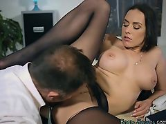 Luscious Secretary Mea Melone Blows Her Hung Boss