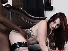 Emo slut loves big black dicks