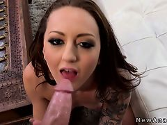 Tattooed gf begging for anal sex