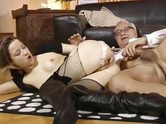 Slutty eurobabe assfucked by geriatric
